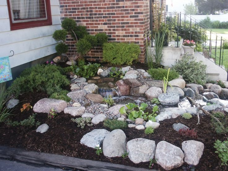 17 best images about pondless waterfalls on pinterest for Front garden feature ideas