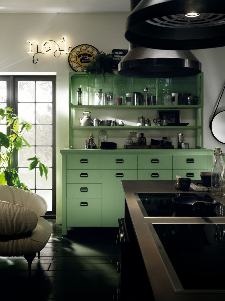Diesel Social Kitchen design by Diesel.  Freedom to interpret! For Scavolini, the designers of the Diesel Social Kitchen have created a vast assortment of compositional features that can merge to generate an infinity of original, unique rooms. #DieselSocialKitchen #Diesel #Scavolini #Kitchen