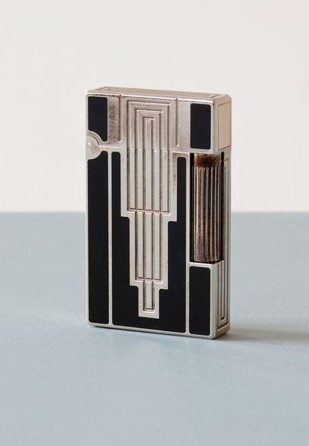 S.T. Dupont, Lighter, 1930. Silver plated, laque de chine. Via zeitlos, Berlin