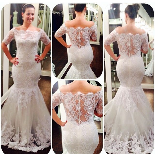 Lace Fit And Flare Marchesa Wedding Dress This Is Now Available At Solutions Bridal In Orlando FL