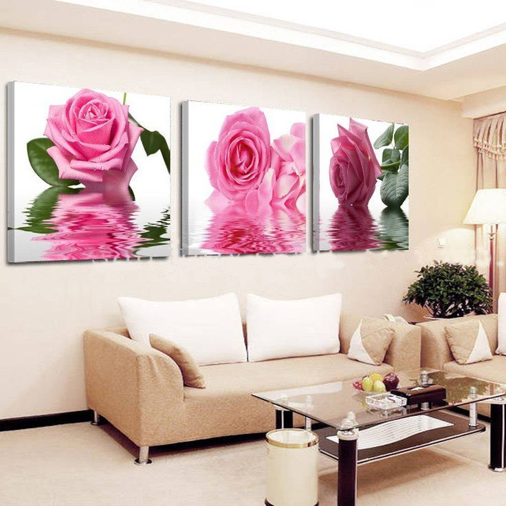 Best 215 Wall Paintings images on Pinterest | Flower canvas ...