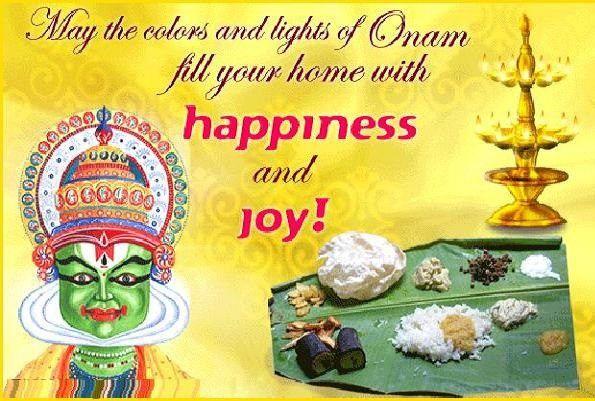 Happy Onam Wishes Card Image