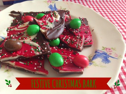 Festive Christmas Chocolate Bark