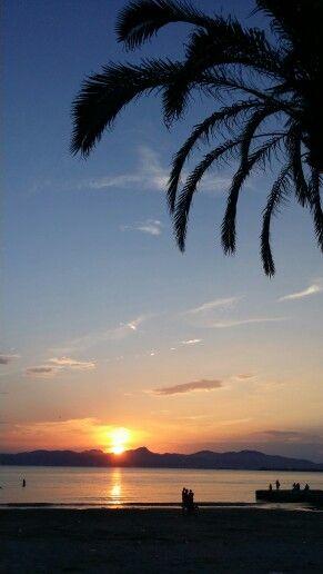 Puesta de sol en El Arenal Mallorca