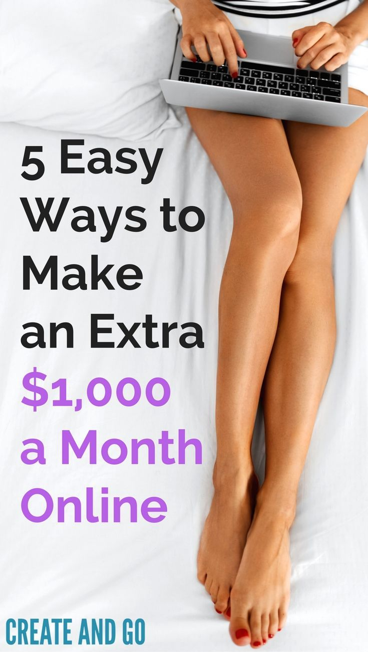 Make Extra Money Online | Make $1000 Online | Earn Side Income | Blog and Blogging Tips | Start a Blog | http://createandgo.co/earn-extra-1000k-month-online/