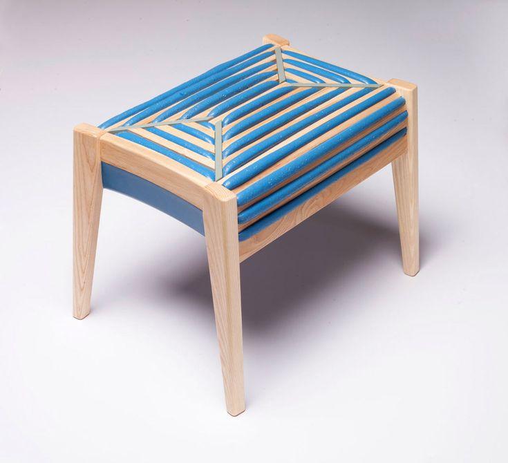 75% control: деревянный табурет. Сиденье из пенополиуретана #Design #Interior #Furniture #Chair