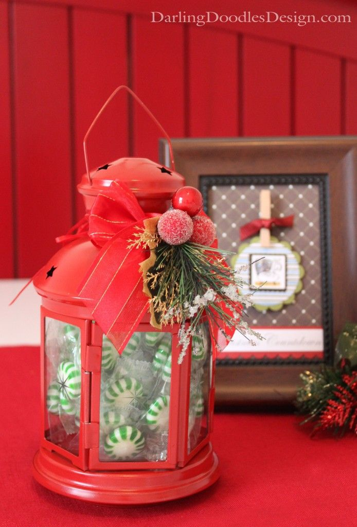 Make these Easy & Cute Christmas Candy Lanterns - great neighbor or visiting teaching gift!