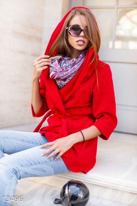 Gepur | Стильное пальто-накидка арт. 13496 Цена от производителя, достоверные описание, отзывы, фото