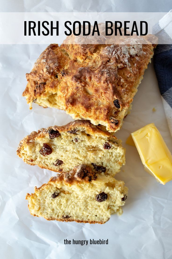 Irish Soda Bread Recipe With Raisins The Hungry Bluebird Recipe Raisin Recipes Traditional Irish Soda Bread Soda Bread