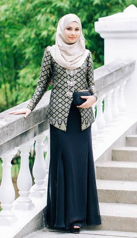 Hijab Fashion 2016/2017: Jasmine Exclusive Songket Kurung Classy Black | MINIMALACE