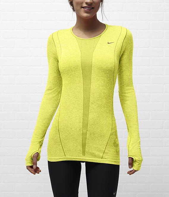 Nike Dri-FIT Knit Long-Sleeve Women's Running Shirt. #nike #gear #running