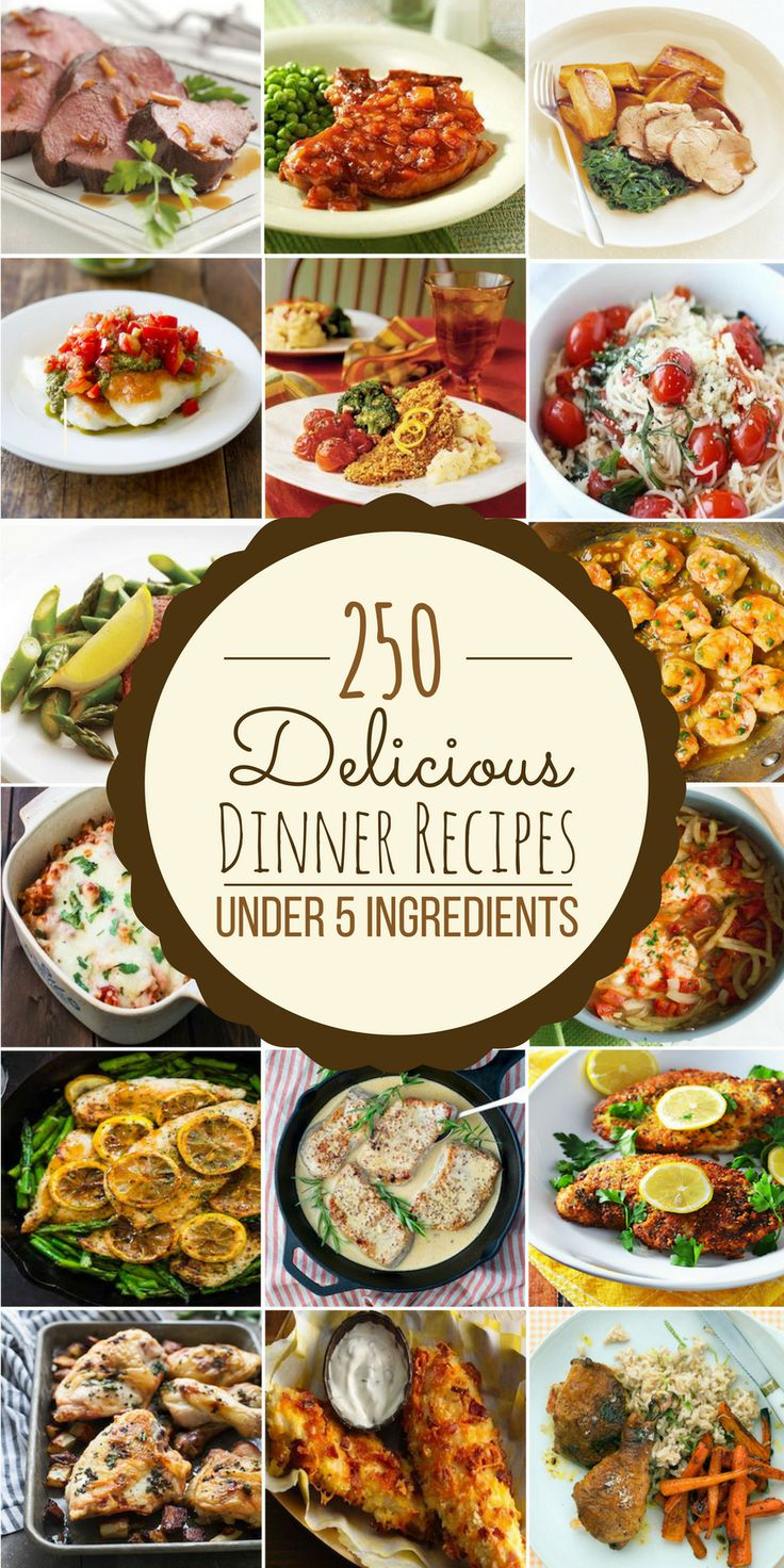 250 Delicious Dinner Recipes Under 5 Ingredients