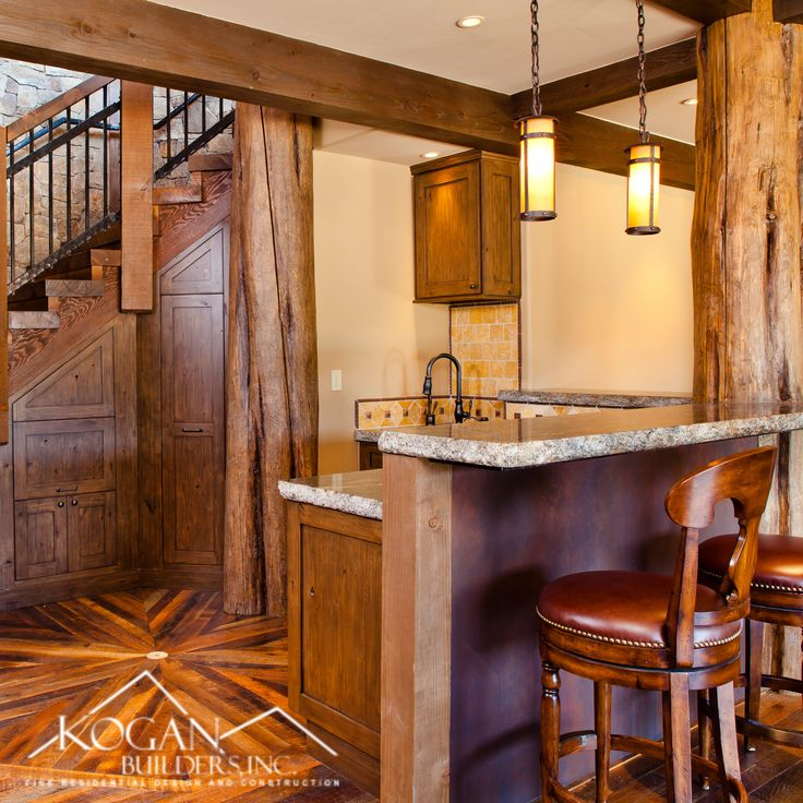 Rustic Finished Basement Ideas: Rustic Home Bar With Custom Elegance In 2020
