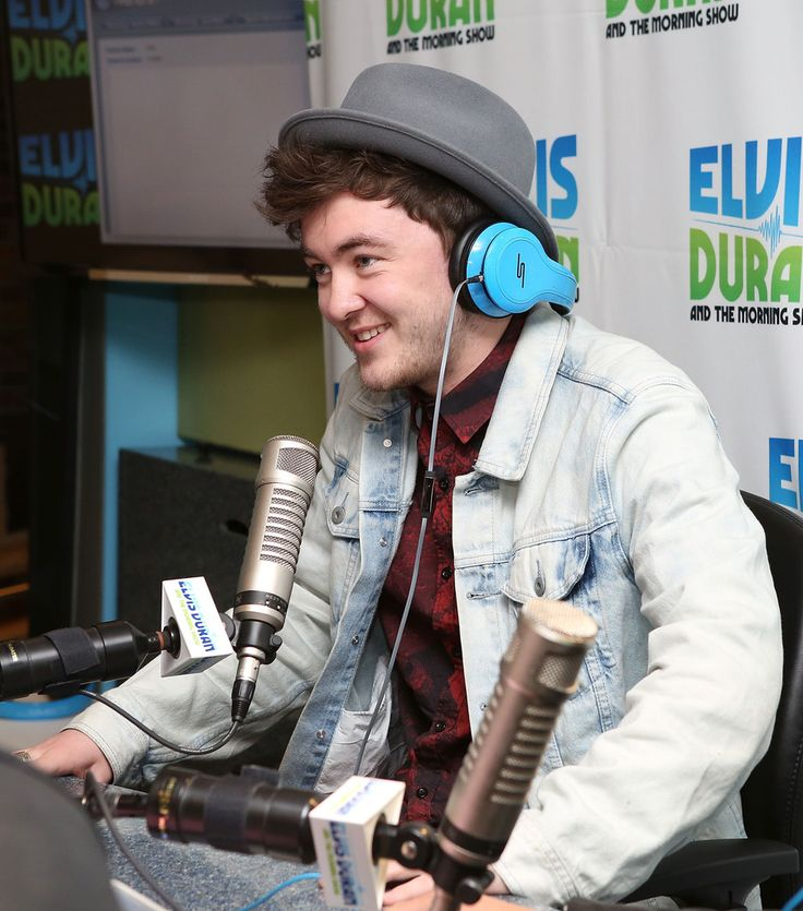 """(EXCLUSIVE COVERAGE/SPECIAL RATES APPLY) Vocalist Jake Roche of Rixton visits at """"The Elvis Duran Z100 Morning Show""""  at Z100 Studio on May 30, 2014 in New York City."""