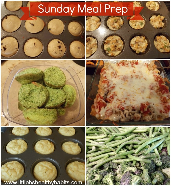 Little bs healthy habits: A New Snack and Sunday Meal Prep