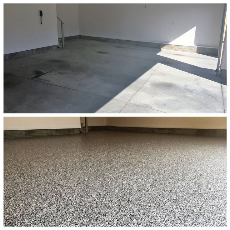 Before and after epoxy flooring Mooloolaba townhouse garage