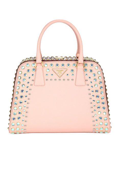 Prada Borsa Cerniera Bag Oh My Pastel Pink With Bling What