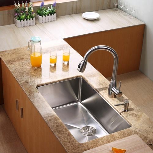 Kraus KHU100 30 KPF2130 SD20 30 Inch Undermount Sink And Faucet Combo Modern