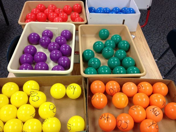Sight word basketball - great way to integrate sight word practice, gross motor, and math!