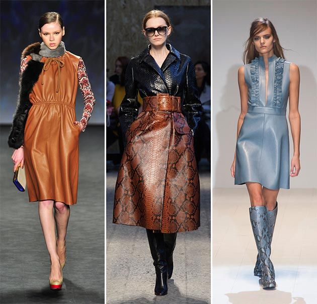 Fall/ Winter 2014-2015 Fashion Trends: Leather Trend #fashiontrends #trends