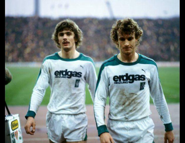 Gladbacher Legenden: Winnie Hannes (links) und Rainer Bonhof. Beide Spieler wurden von den Borussen-Fans in die »Jahrhundertelf« gewählt.