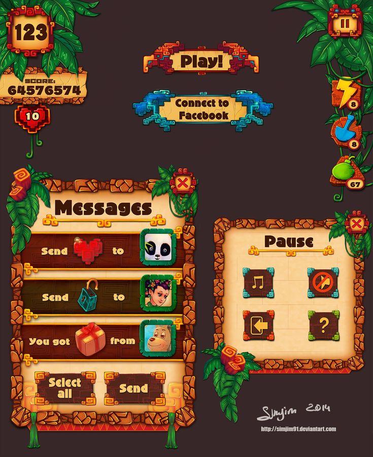 Game UI design 3 by Simjim91.deviantart.com on @deviantART