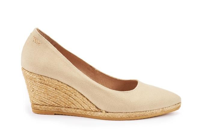 c3a03a38861 Roses Canvas Wedges - Beige | Spring & Summer Capsule Ideas ...