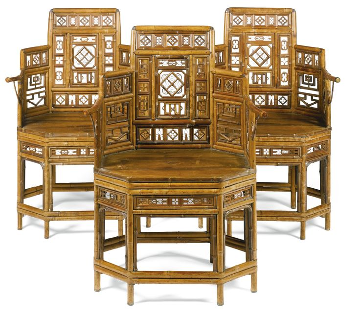 bamboo and pine, with modern striped silk squab cushions Bamboo Made in  China for export to England in the early century - 257 Best Antique Chinese Bamboo Furniture Images On Pinterest