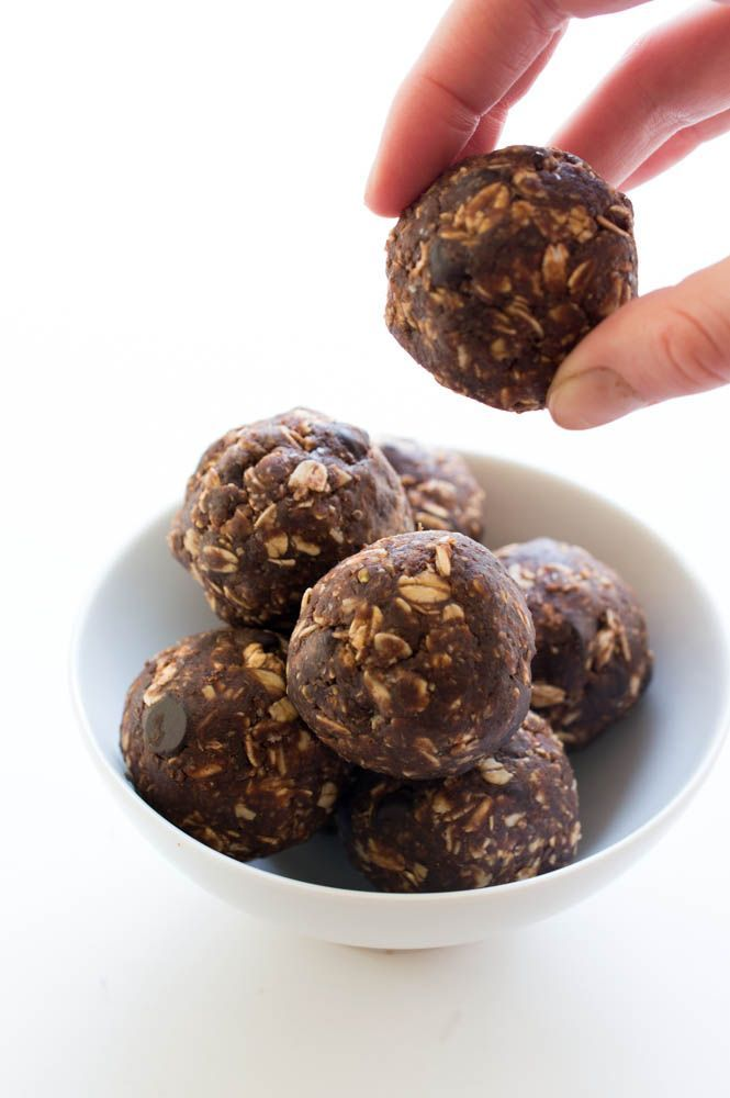 Chocolate Peanut Butter Energy Bites  A good way to get more protein in me! :D  ~ Mary J