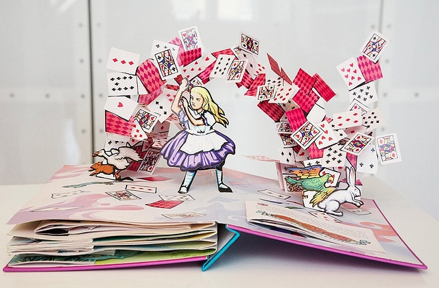 Alice in Wonderland pop-up book.