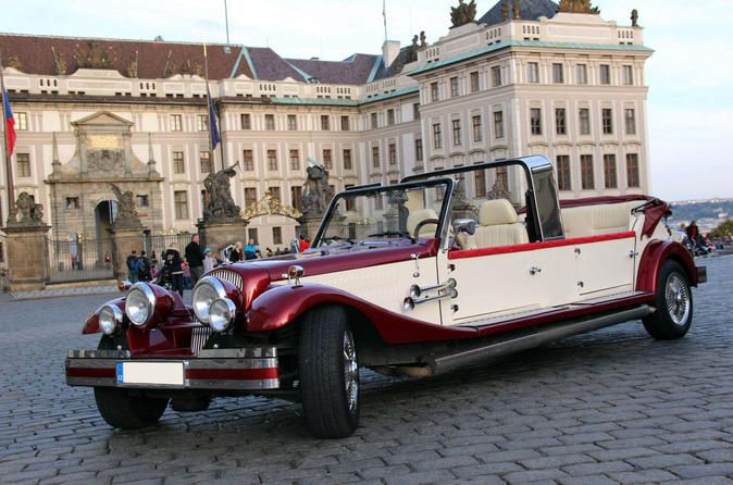 Old Time Prague Tour in Vintage Car 																		See the sights of Prague from a new perspective on a exclusive sightseeing tour by vintage car and wooden boat. Stroll around some of Prague's most beautiful neighborhoods, such as Kampa Island, Prague Castle, and the Old Town. Enjoy on board refreshments. 		 		 		 		 		 																				Travel back to the 1930s and experience Prague from the seat of a vintage automobile. See some of the city's most historic sights and p...