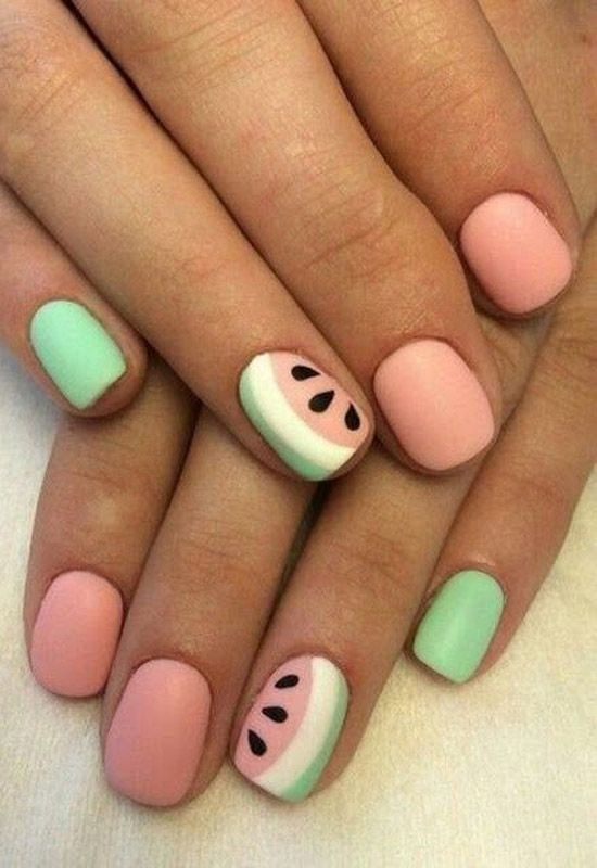 55 special summer nail designs for an extraordinary look. Best to sew… - Sommer Nagel - NailiDeasTrends - 55 special summer nail designs for an extraordinary look. It is best to sew summer nail - Diy Nails, Swag Nails, Cute Nails, Fancy Nails, Summer Acrylic Nails, Best Acrylic Nails, Summer Nail Art, Nail Art Ideas For Summer, Spring Nails