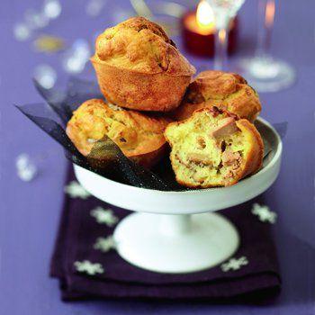 Muffins au foie gras et aux châtaignes