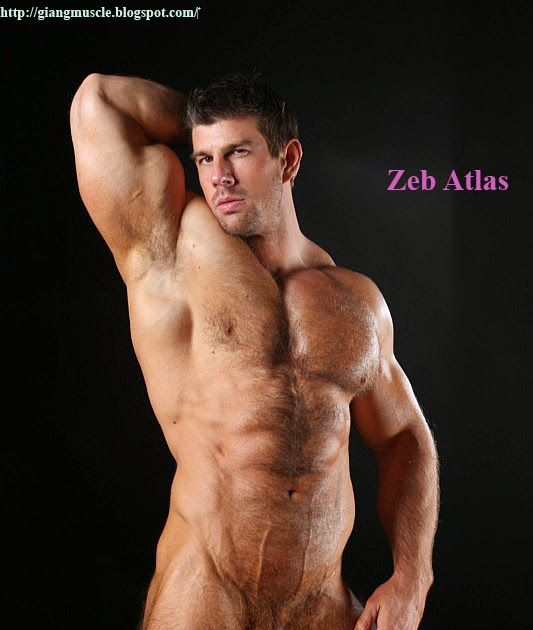 Zeb Atlas - Nude on Black - MEN PORN STAR