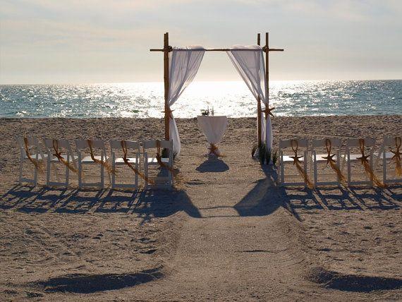 HOT SPECIAL  Bamboo Beach Wedding Arch  by BeachWeddingSupply, $250.00