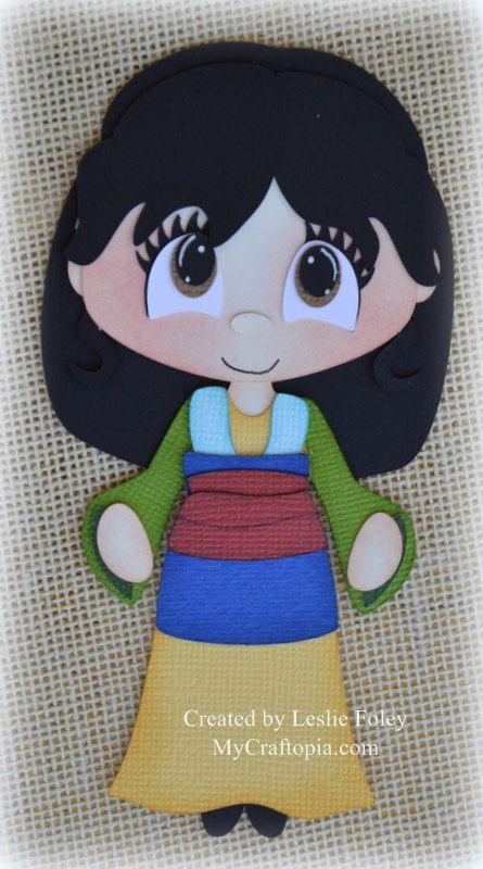 Disney princesa Mulan Premade Scrapbooking adorno por MyCraftopia