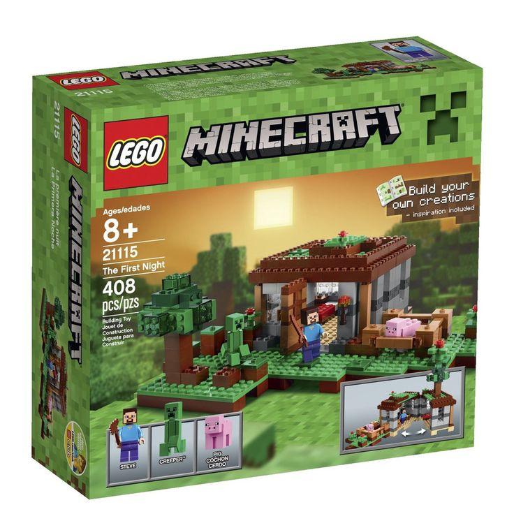 #LEGO #Minecraft 21115 The First Night Steve, Creeper, Pig