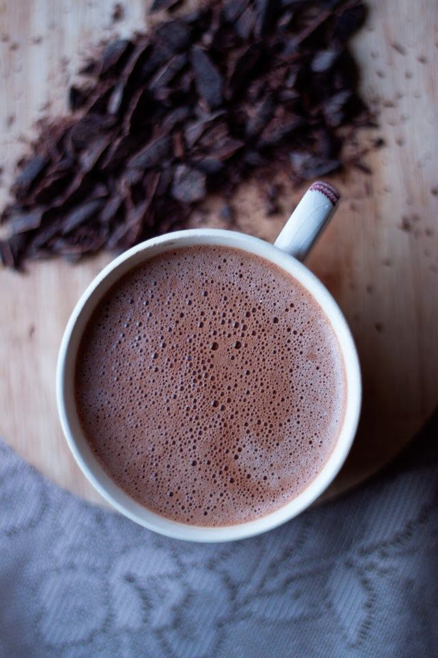 Dark Salted #Vegan Hot Chocolate