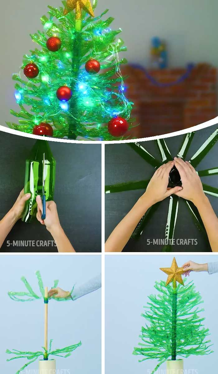 Recycled Christmas Decorations Using Bottles