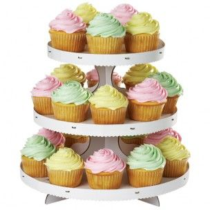 Wilton Cupcake Stand 3-Tier - Taart & Cupcake Standaards - Presentatie & Verpakkingen - producten | Deleukstetaartenshop.nl