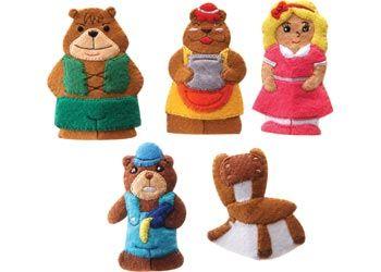 Goldilocks and The Three Bears Finger Puppets