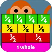 Little Monkey Apps Fraction wall is designed for students to use in a small group or independent learning. It can be used to enhance use of using paper (or laminated) poster style fraction walls or Cuisenaire rods. The app can be used to answer traditional pen and paper style questions and caters to visual and kinesthetic learners as well as individual and partner games. 8MB
