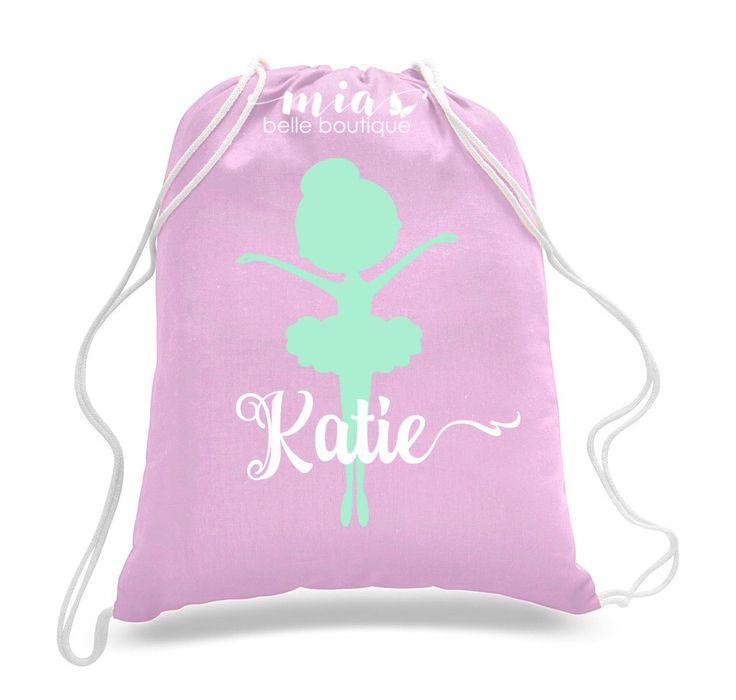 Personalized Dancer Ballet bag, Dance bag, Dance Gifts, Dance recital gift, Kids…
