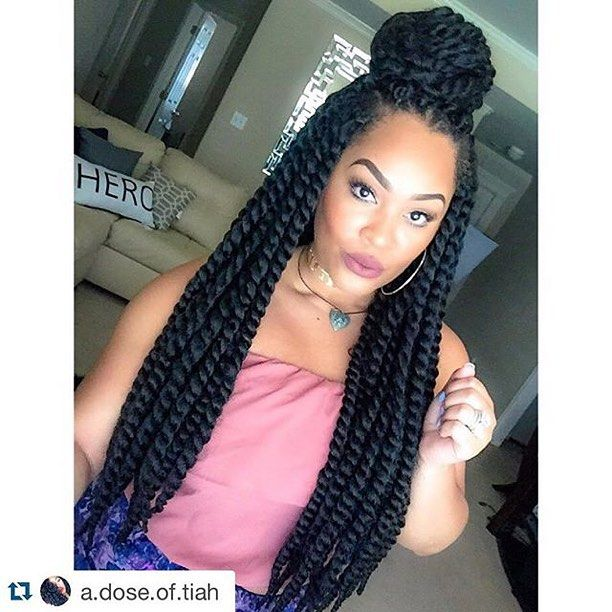 """#Repost from @a.dose.of.tiah #Queening Janet Collection 2X Havana Mambo Twist 24"""" @janetcollection Hair provided by @beauty_depot www.shopbeautydepot.com twists"""