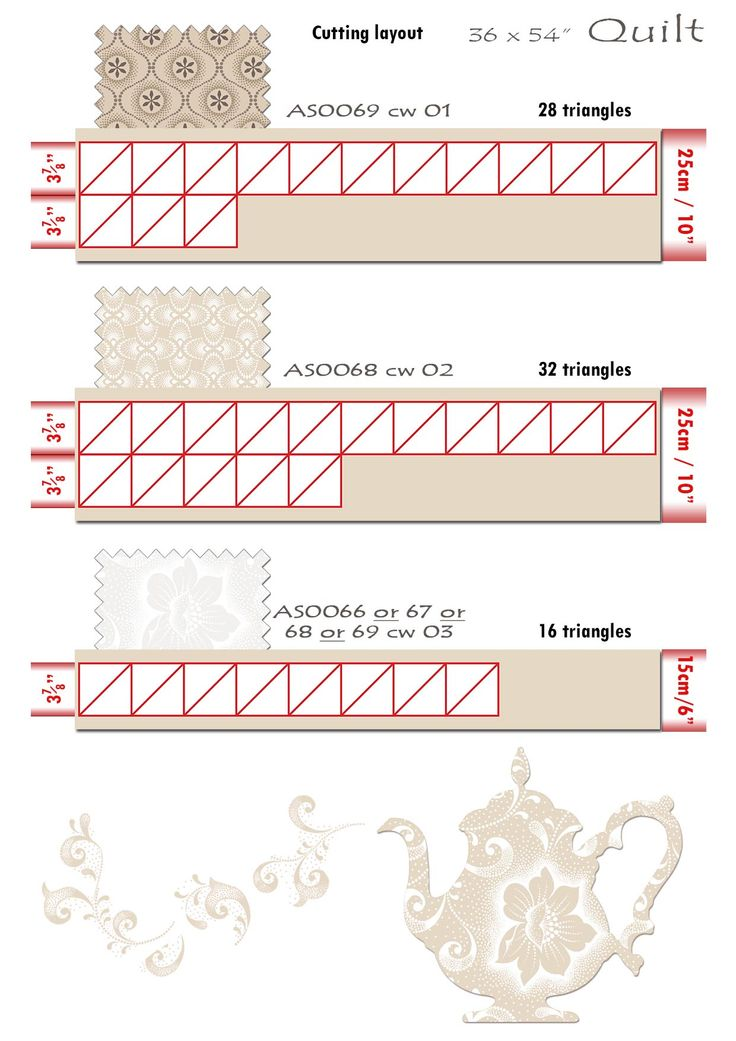 9 Iced Tea Collection Quilt cutting layout 2