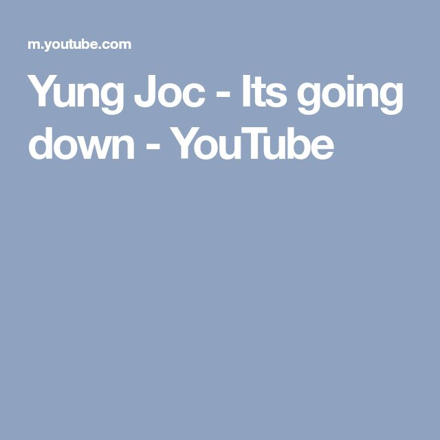 Yung Joc - Its going down - YouTube