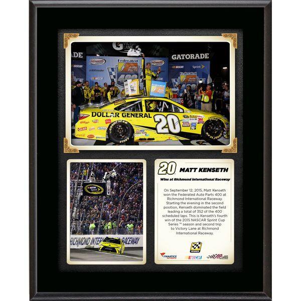 Matt Kenseth Fanatics Authentic 2015 Federated Auto Parts 400 at Richmond International Raceway Race Winner 10.5'' x 13'' Sublimated Plaque Collage - $29.99