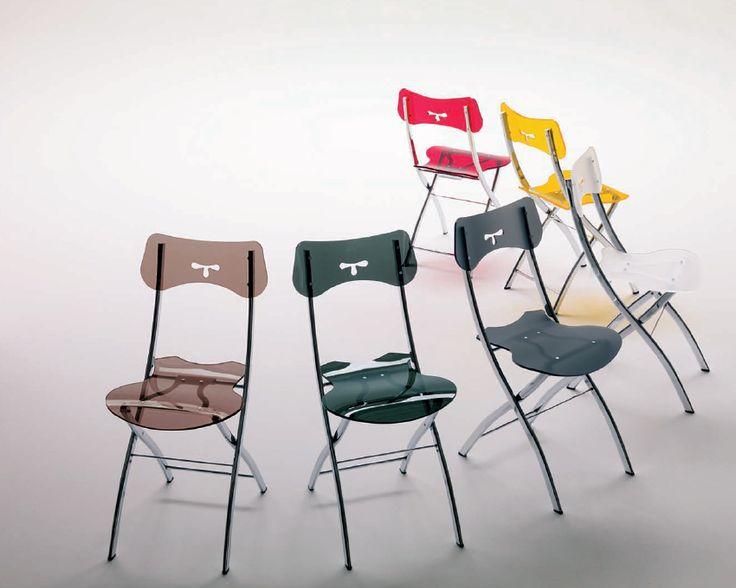 Space saving chair  Opla folding dining chair   Bonbon Compact Living
