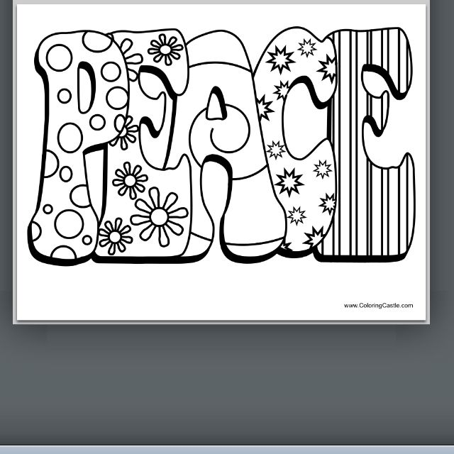 peace coloring pages puzzle - photo#3