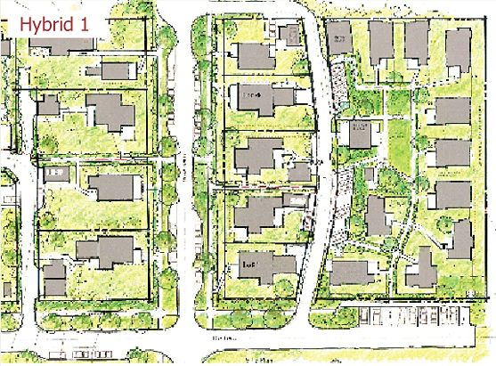 128 best pocket neighborhood site plans images on for Subdivision house plans